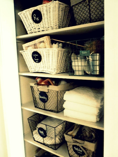 Ordinaire Linen Closet Baskets